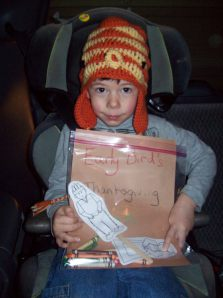 Thanksgiving in the Car, by Mrs.Warde