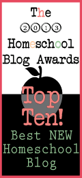 Thank you, HSBA! StS: a Top 10 New Homeschooling Blog in 2013