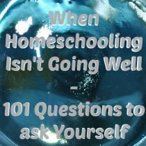 When Homeschooling Isn't Going Well: 101 Questions to Ask Yourself, by Sheryl