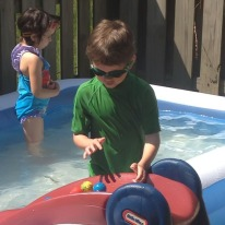 Science in the pool.
