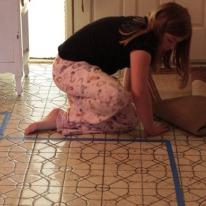 Math on the floor.
