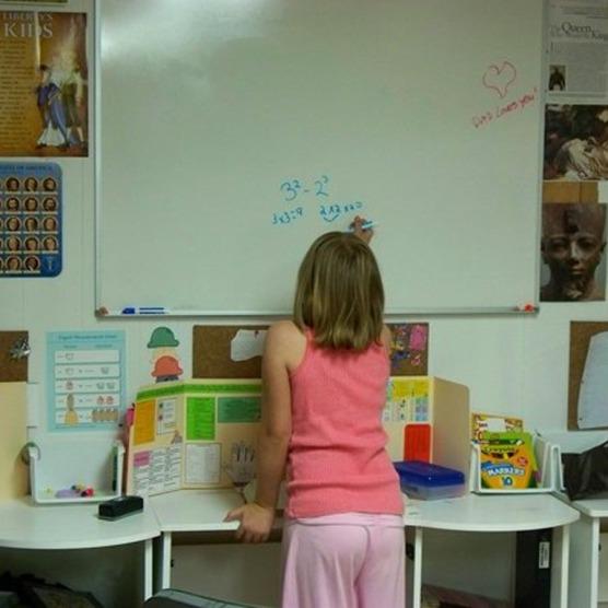 A classroom style area.