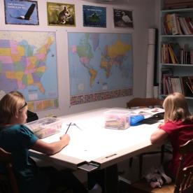 A basement schoolroom